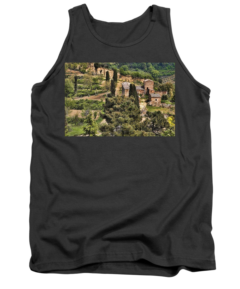 Orvieto Tank Top featuring the photograph Farm Orvieto Italy by Hugh Smith