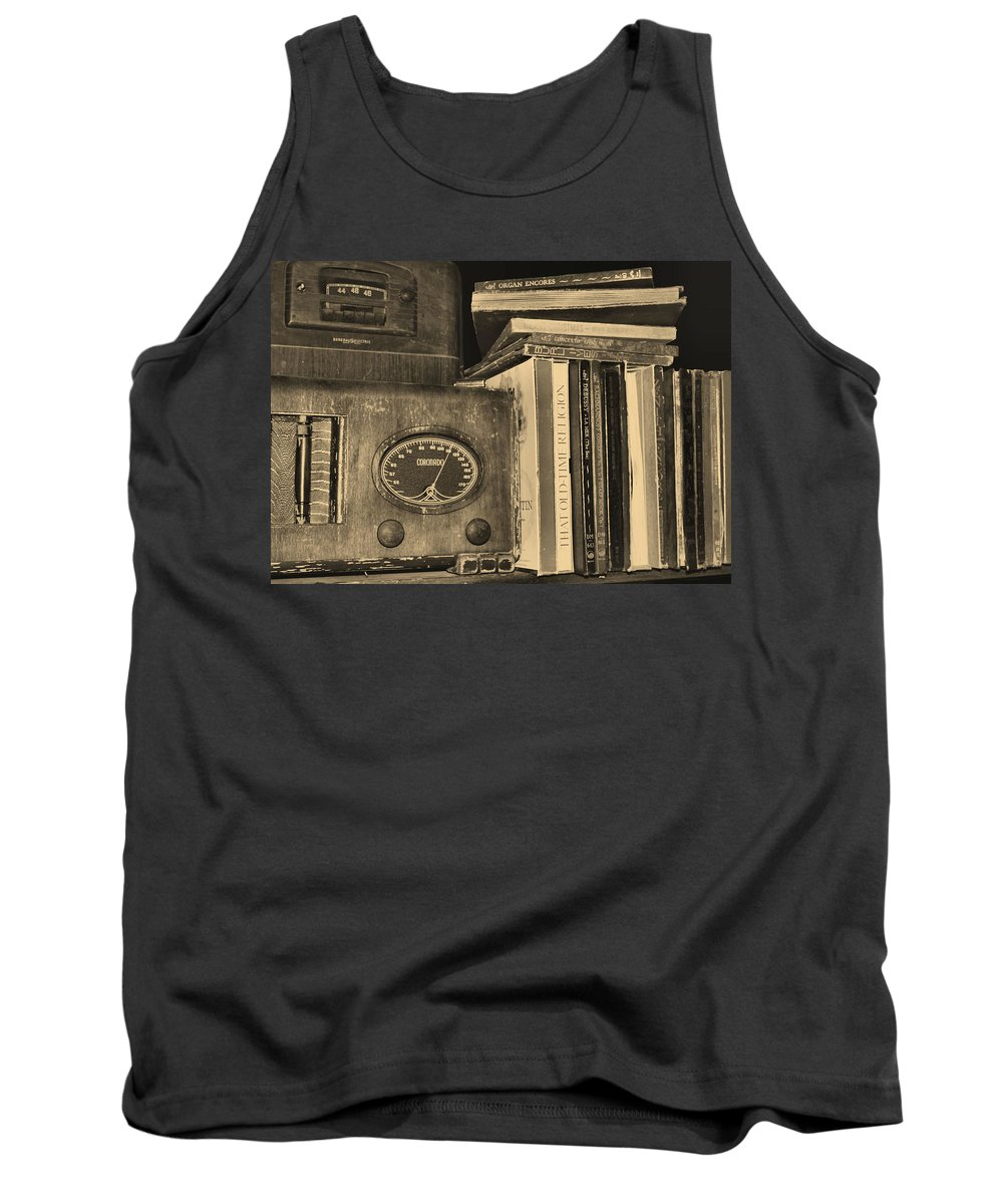 Books Tank Top featuring the photograph Favorite Things by Kristin Elmquist