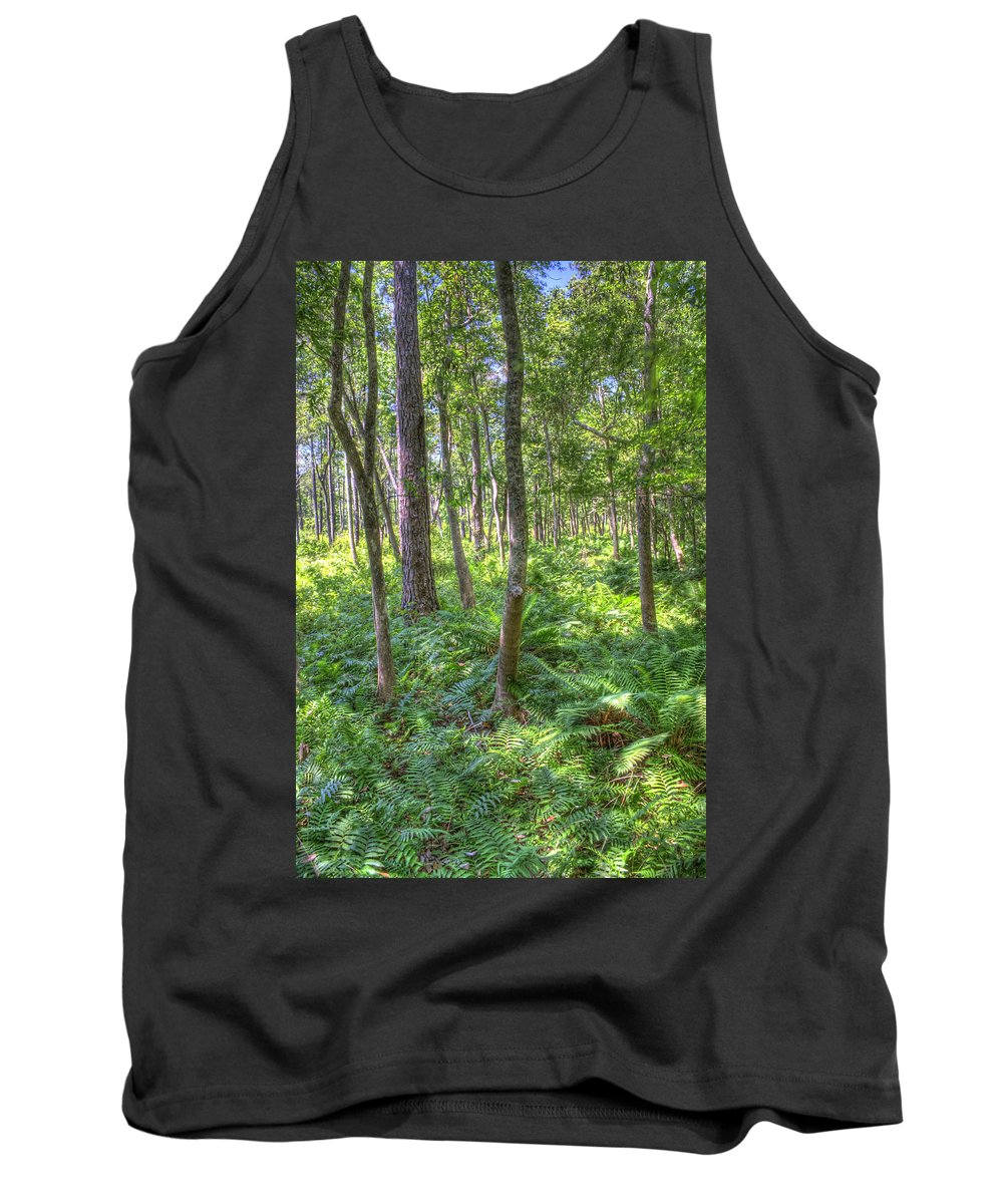 Fern Tank Top featuring the photograph Fern Forest by David Troxel