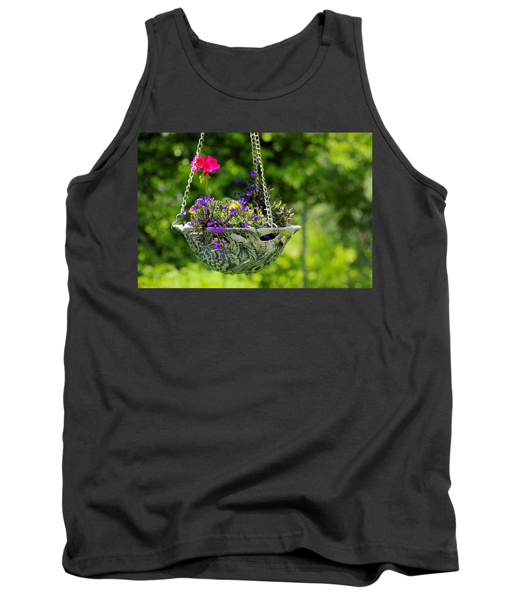 Flower Tank Top featuring the photograph Flower Basket by John Greaves