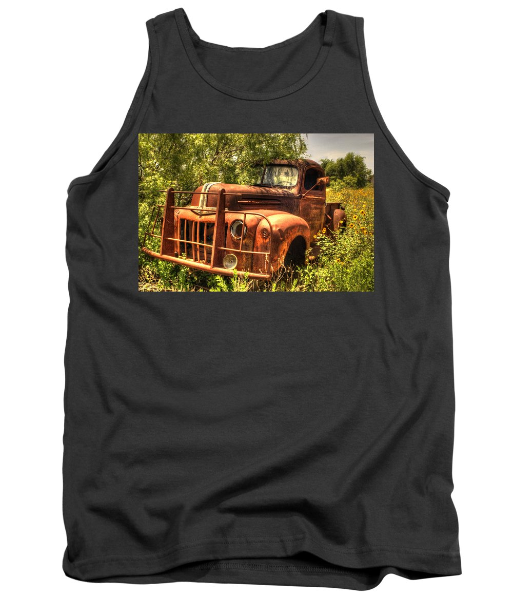Ford Tank Top featuring the photograph Ford In The Weeds by Beth Gates-Sully