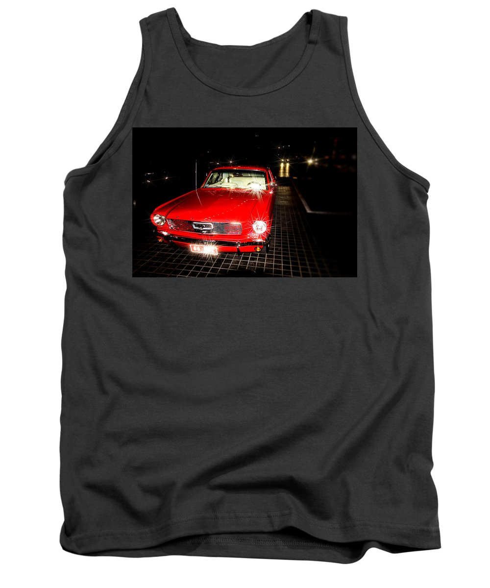 Ford Mustang Tank Top featuring the photograph Ford Mustang by Douglas Barnard