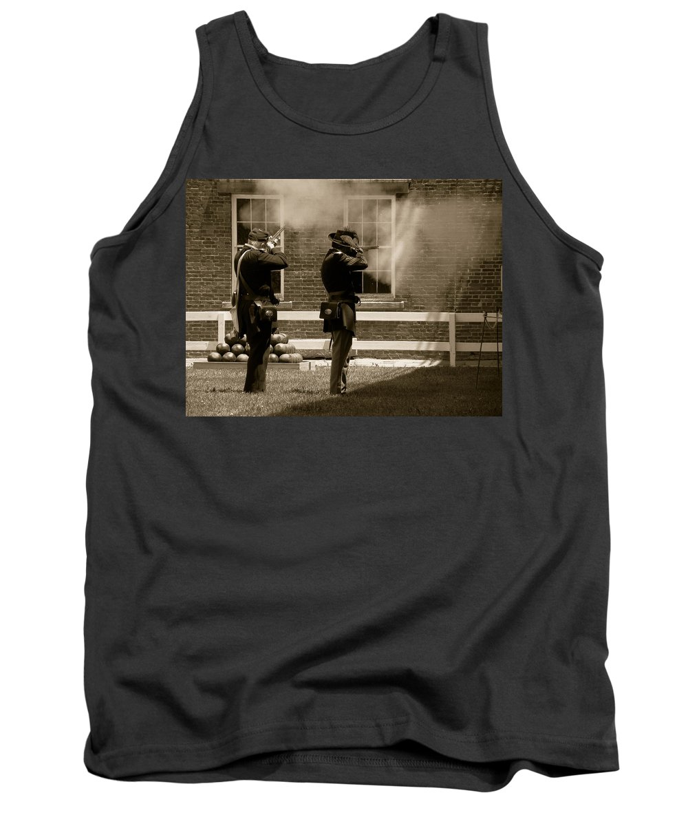 Soldiers Tank Top featuring the photograph Fort Delaware Soldiers by Trish Tritz