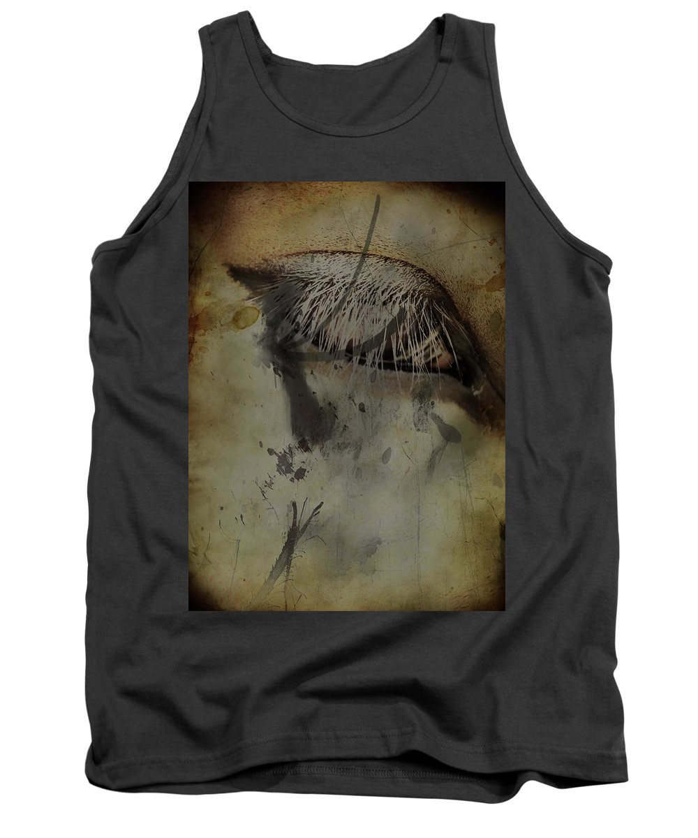 Horse Tank Top featuring the photograph Galloping Glares by The Artist Project