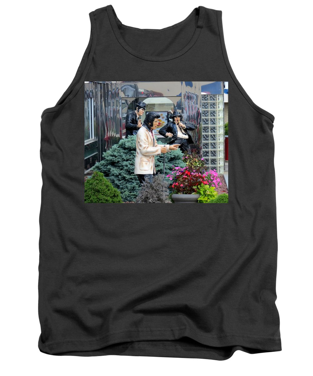 Elvis Tank Top featuring the photograph Garden Party by Kay Novy