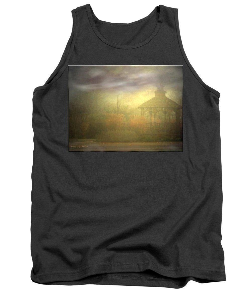 Gazebo Tank Top featuring the photograph Gazebo Rain by Joyce Dickens