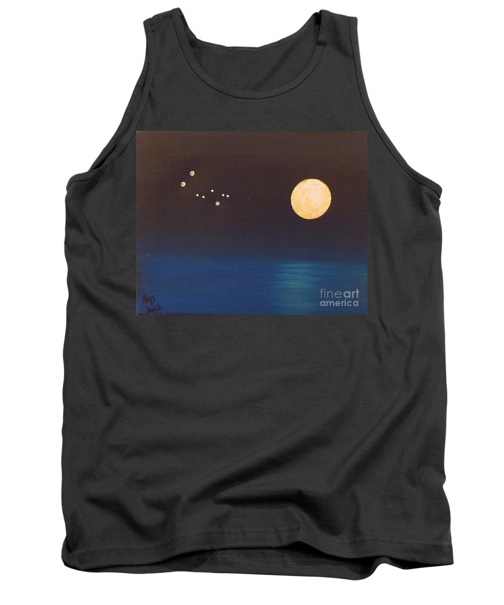 Gemini Tank Top featuring the painting Gemini by Alys Caviness-Gober