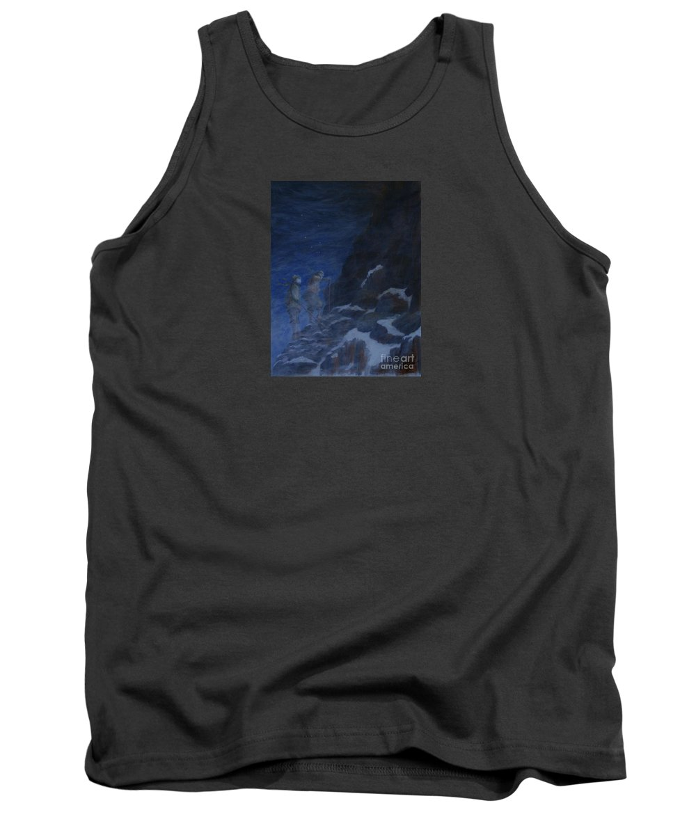 Climbers Tank Top featuring the painting Ghosts Of Everest by William Bezik