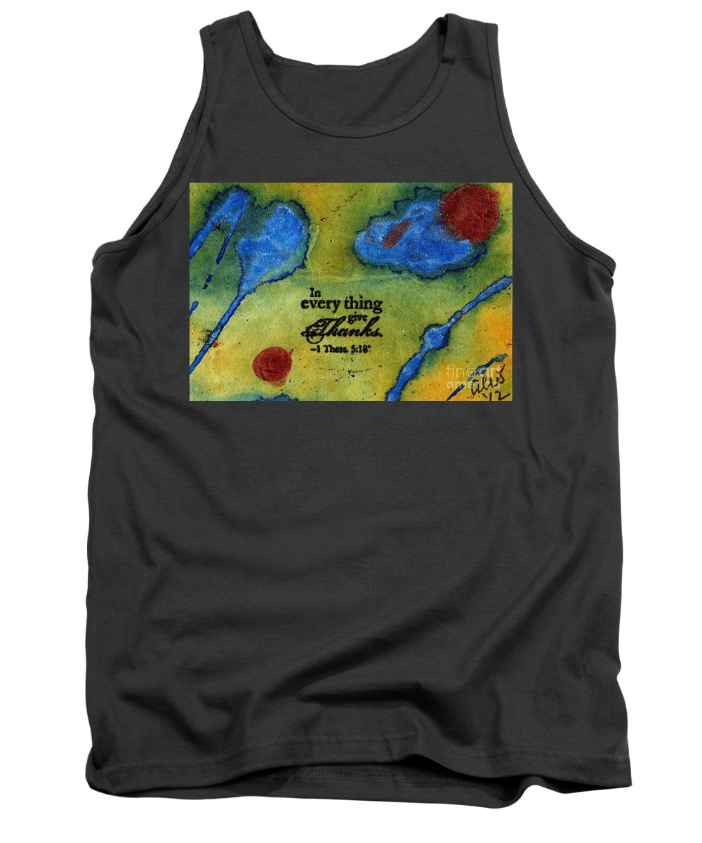 Acrylic Tank Top featuring the painting Giving Thanks by Angela L Walker