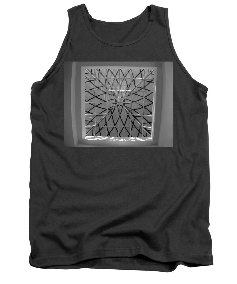 Black And White Tank Top featuring the photograph Glass Celing by Rob Hans