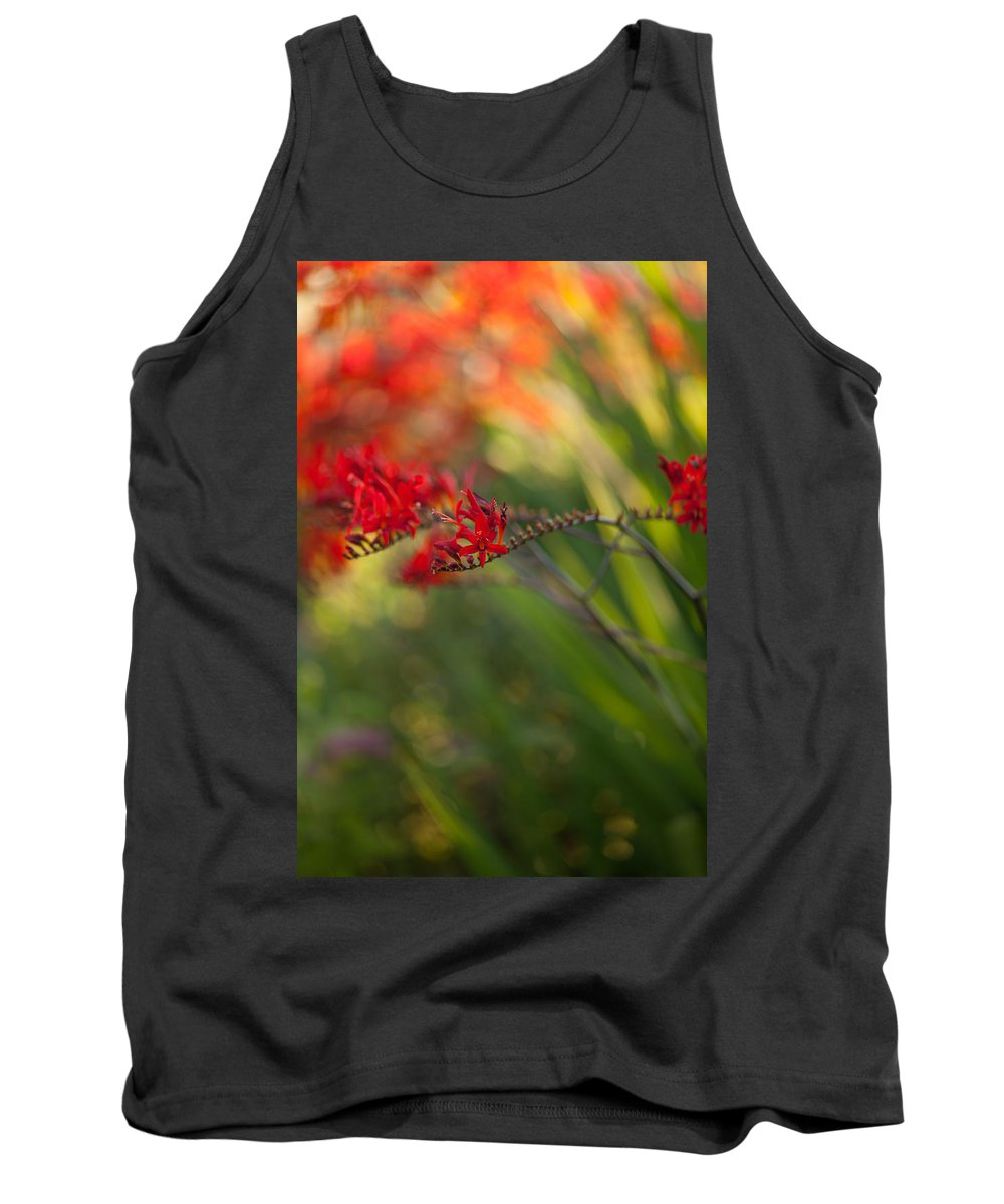 Flower Tank Top featuring the photograph Glorious Red by Mike Reid
