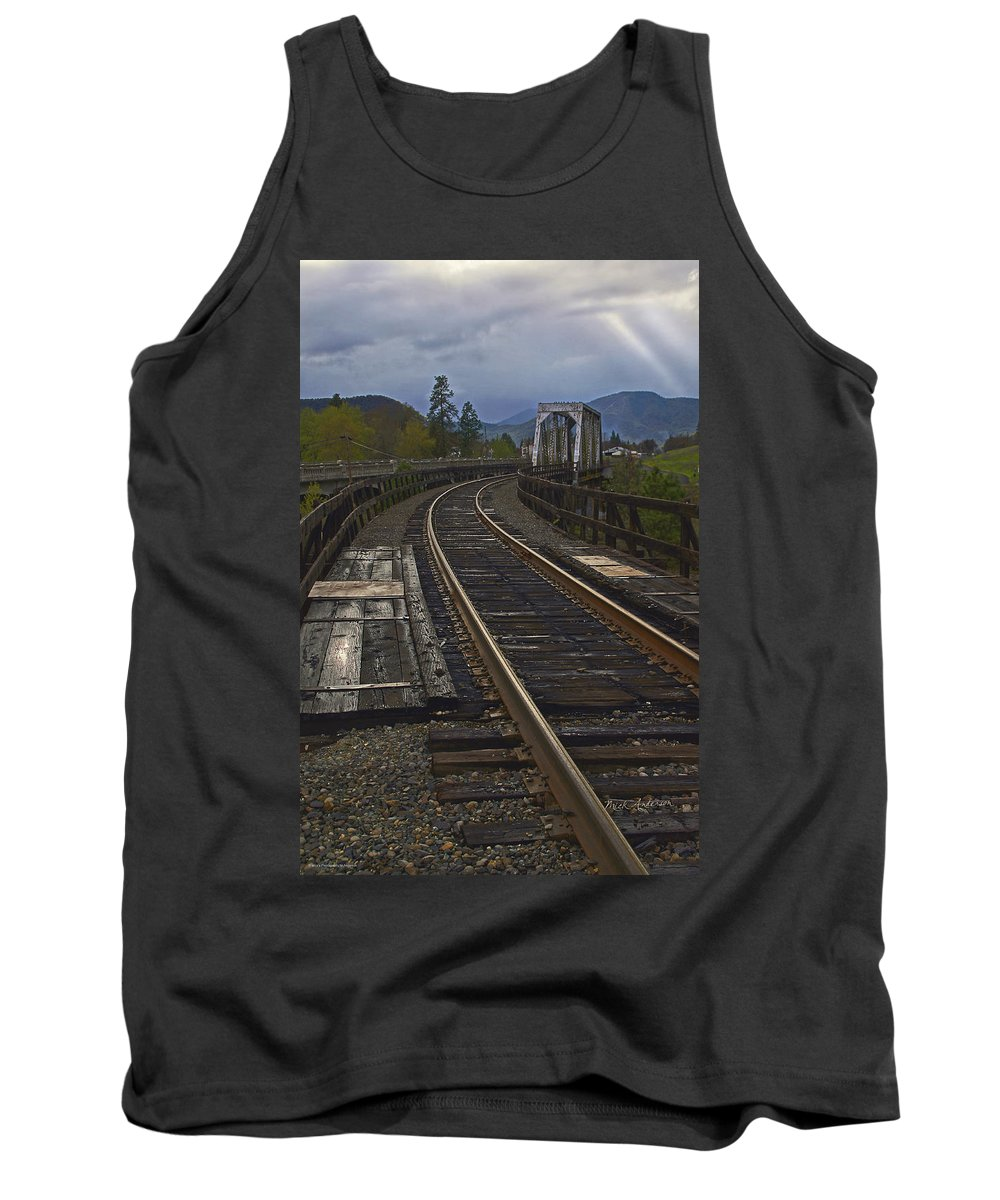 Gold Hill Tank Top featuring the photograph Gold Hill Crossing by Mick Anderson