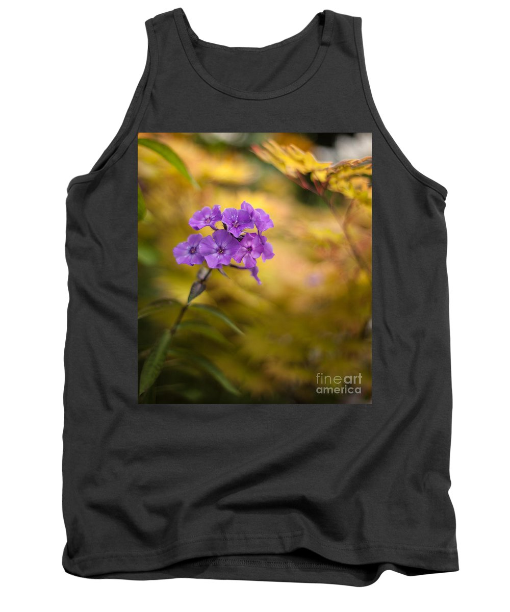 Flower Tank Top featuring the photograph Golden Violets by Mike Reid