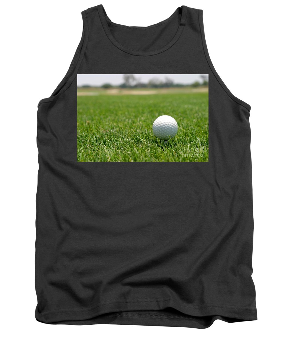 Background Tank Top featuring the photograph Golf Ball by Henrik Lehnerer
