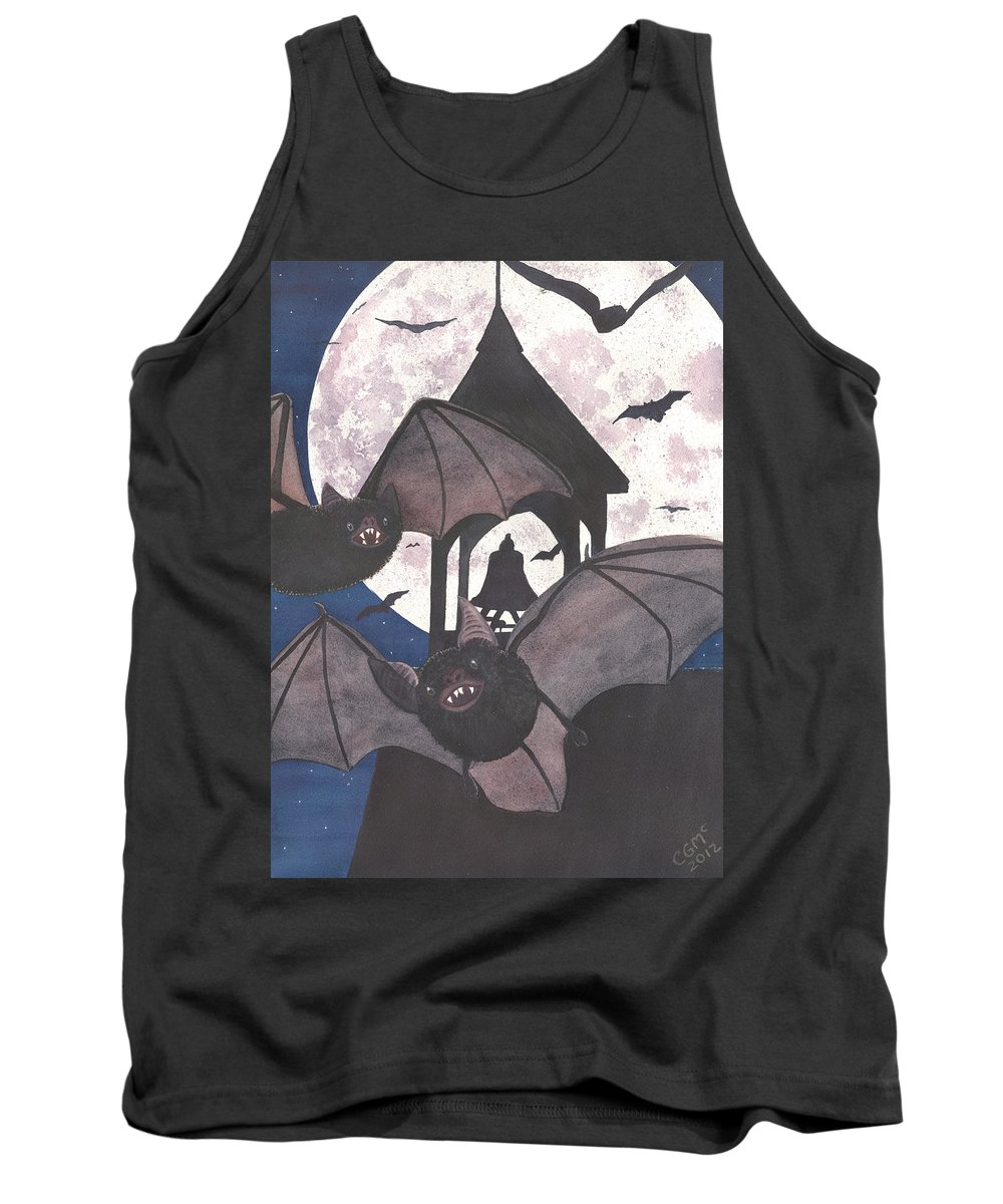 Bat Tank Top featuring the painting Got Bats by Catherine G McElroy
