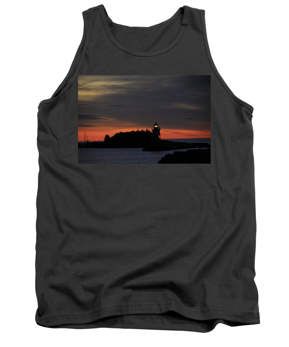 Tank Top featuring the photograph Grand Marais Harbor Sunrise by Joi Electa
