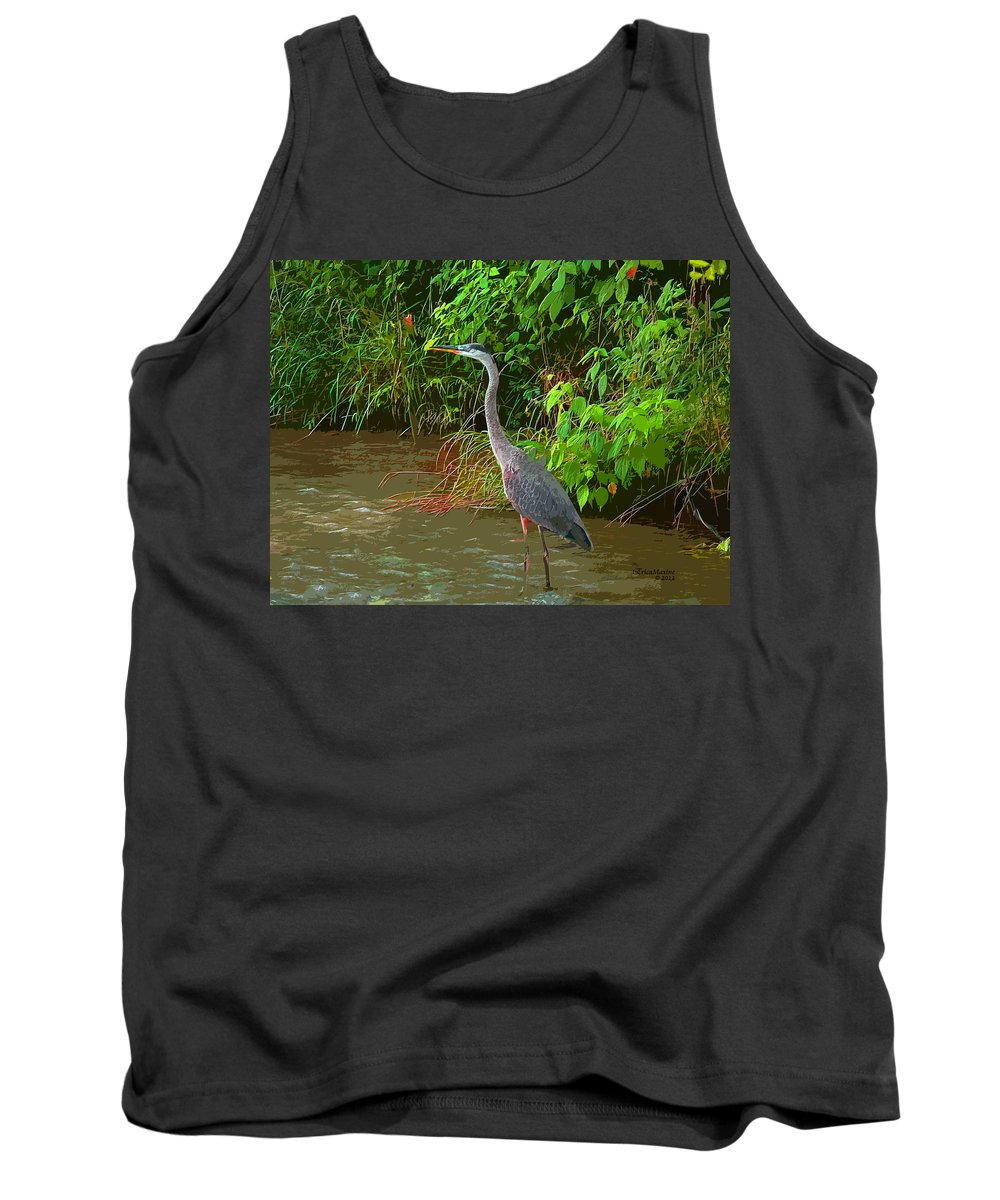 Great Blue Tank Top featuring the photograph Great Blue Heron by Ericamaxine Price