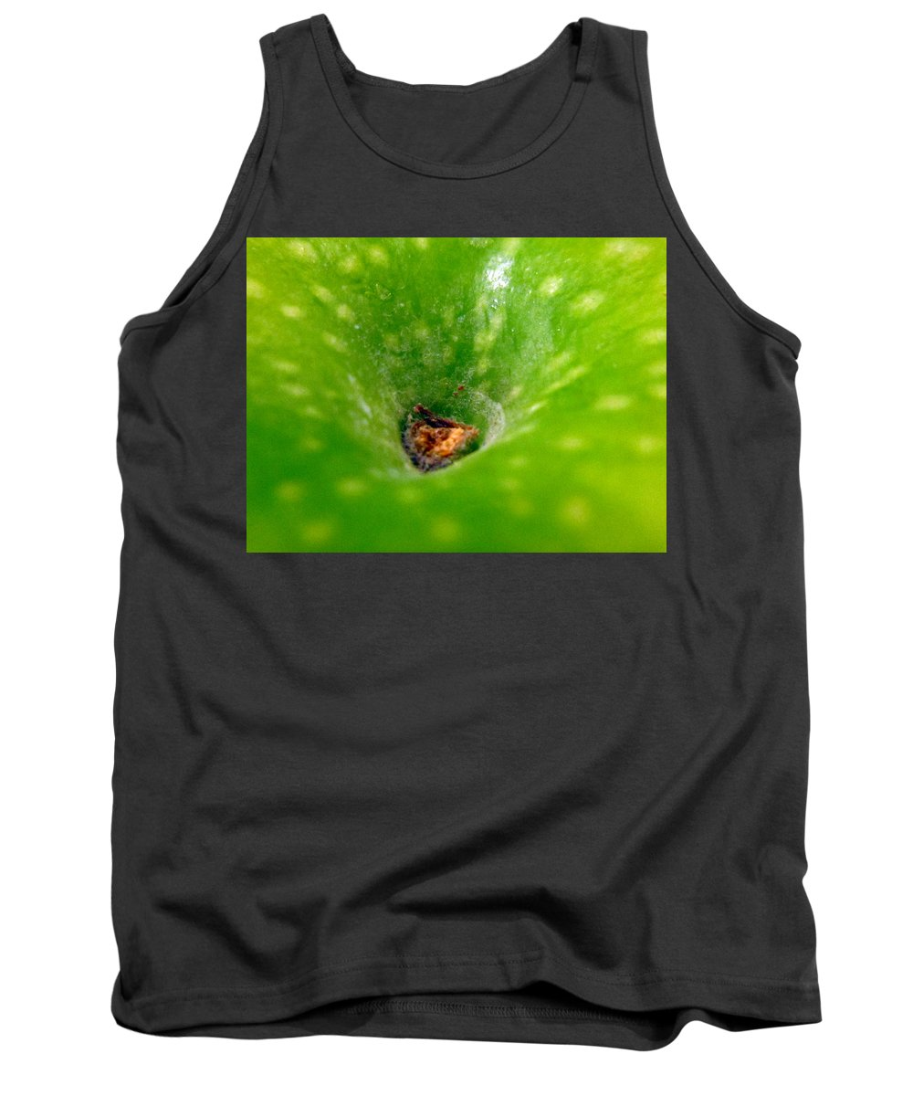 Apple Tank Top featuring the photograph Green Apple by Lisa Stanley