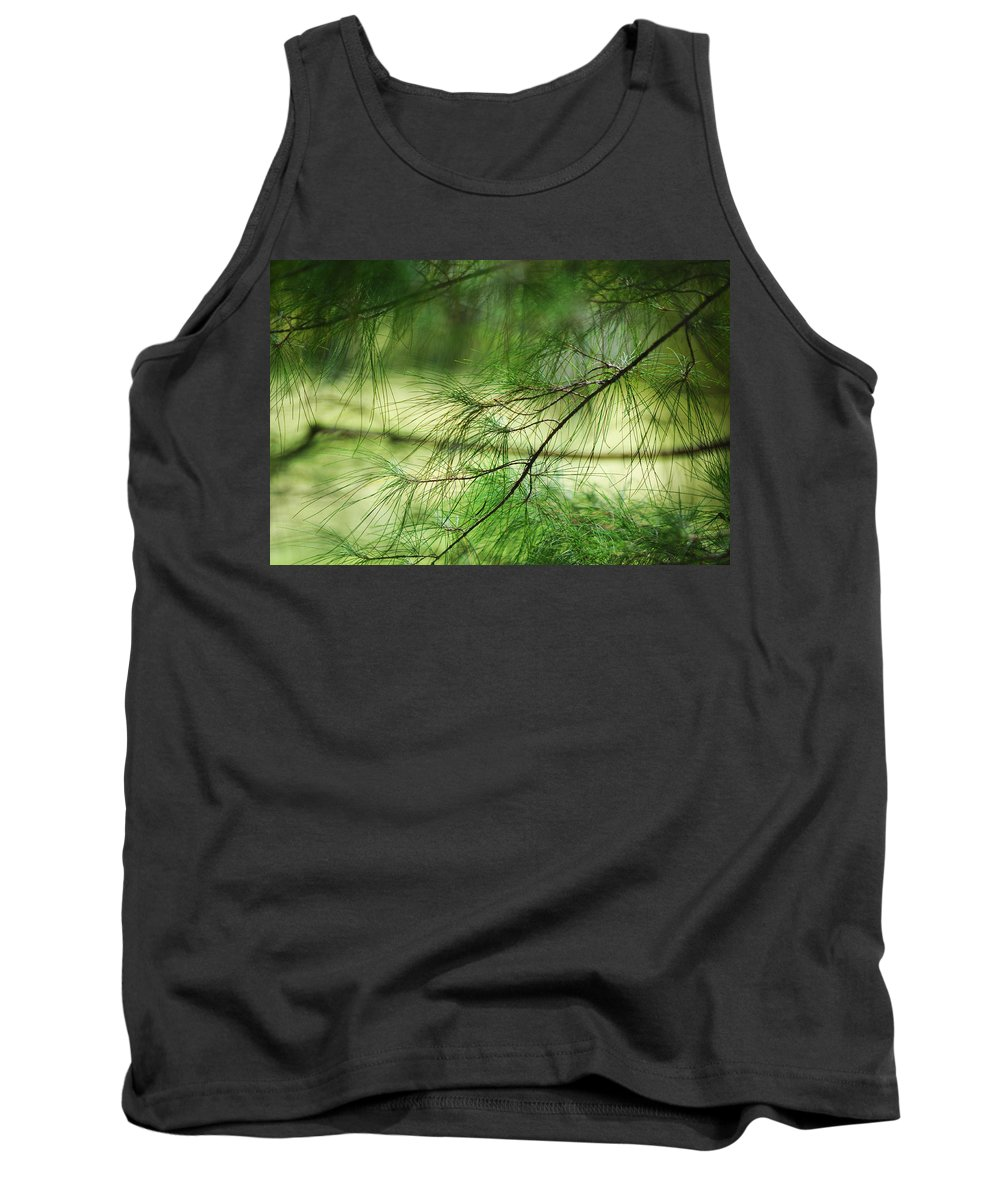 Nature Tank Top featuring the photograph Green Light by Jenny Rainbow
