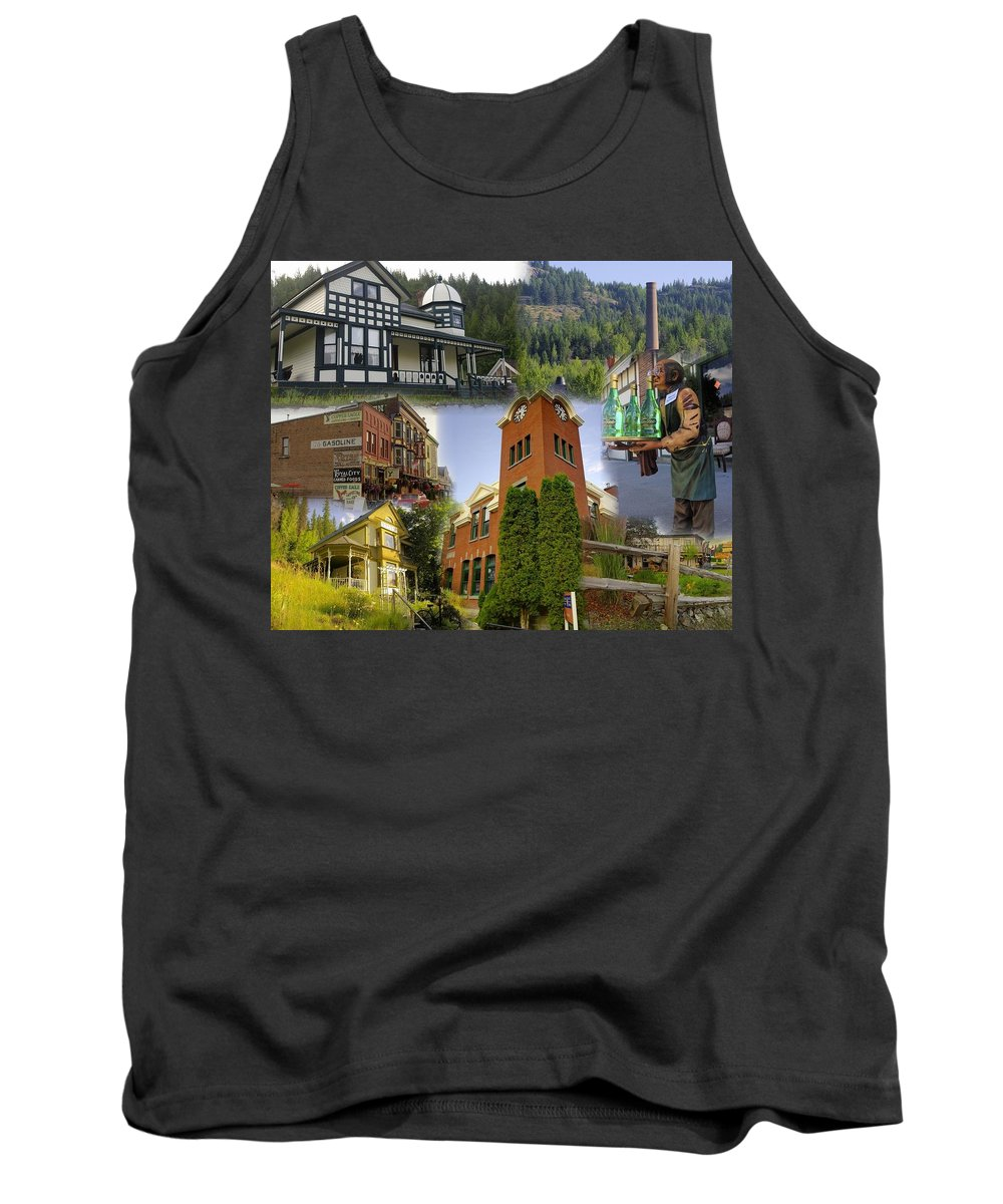 Greenwood Tank Top featuring the photograph Greenwood Collage With Geppetto by John Greaves