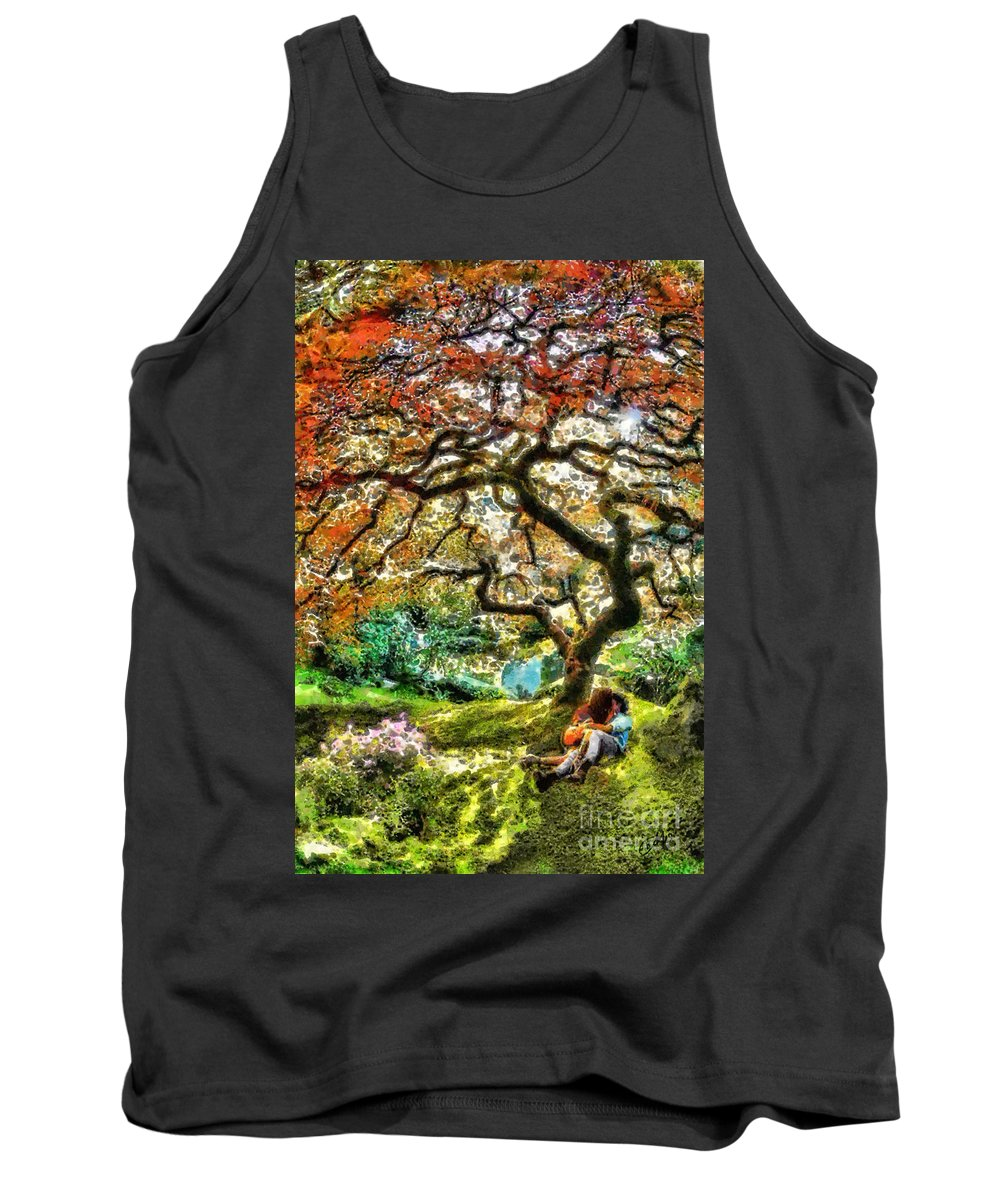 Growing Tank Top featuring the painting Growing by Mo T