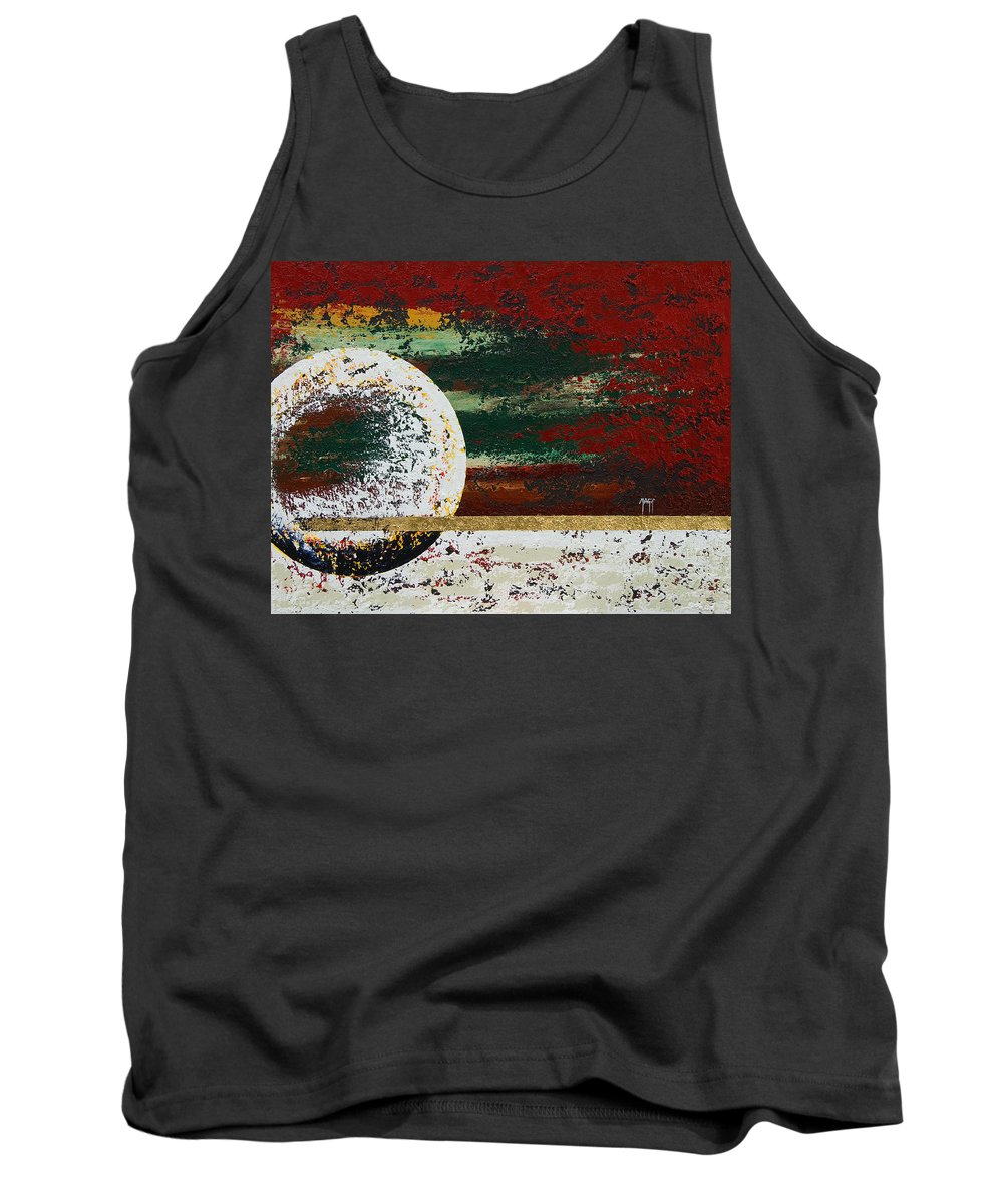 Art Tank Top featuring the painting Guiding Line by Mauro Celotti
