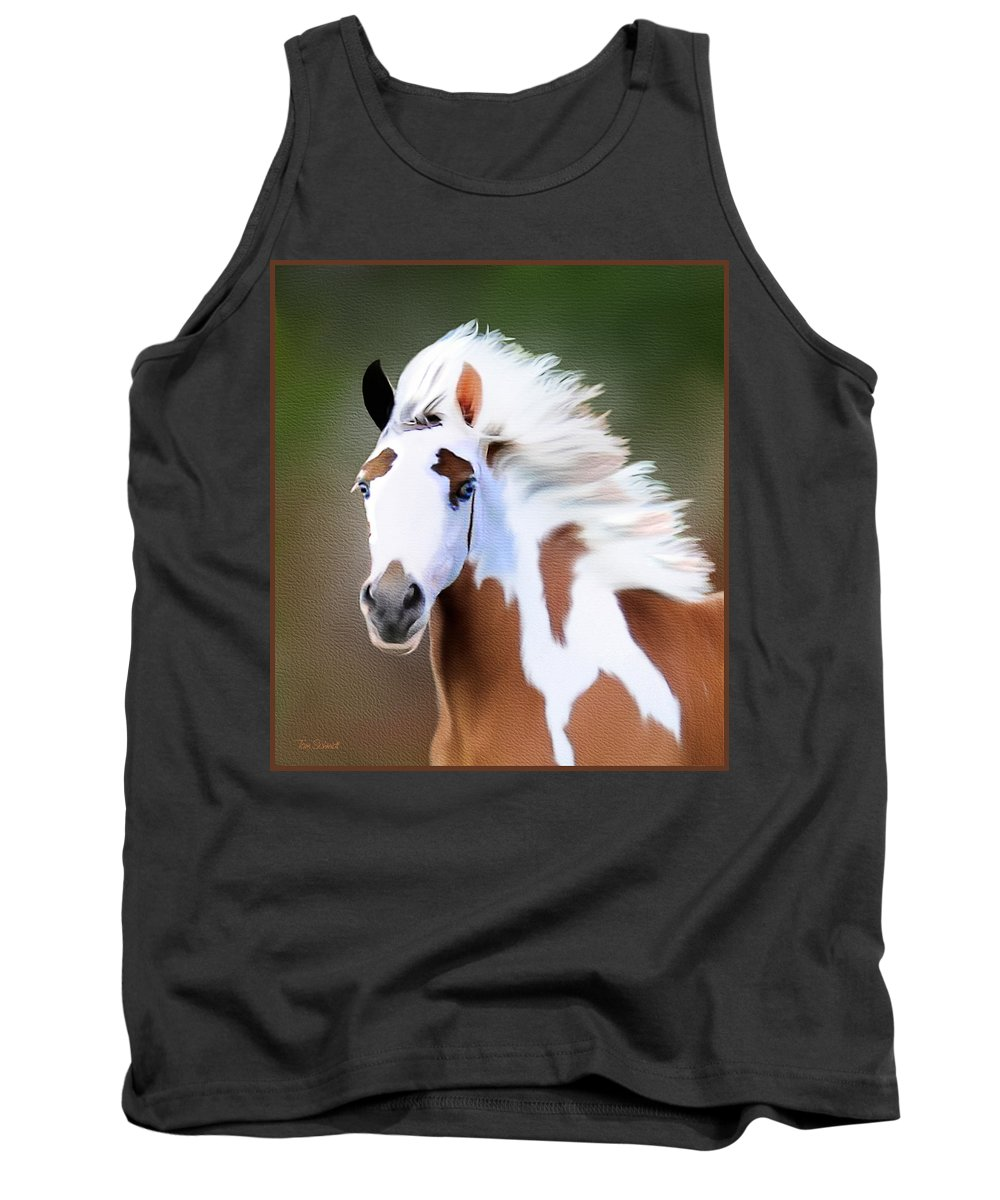 Gypsy Vanner Horse Portraits Tank Top featuring the painting Gypsy Vanner by Tom Schmidt