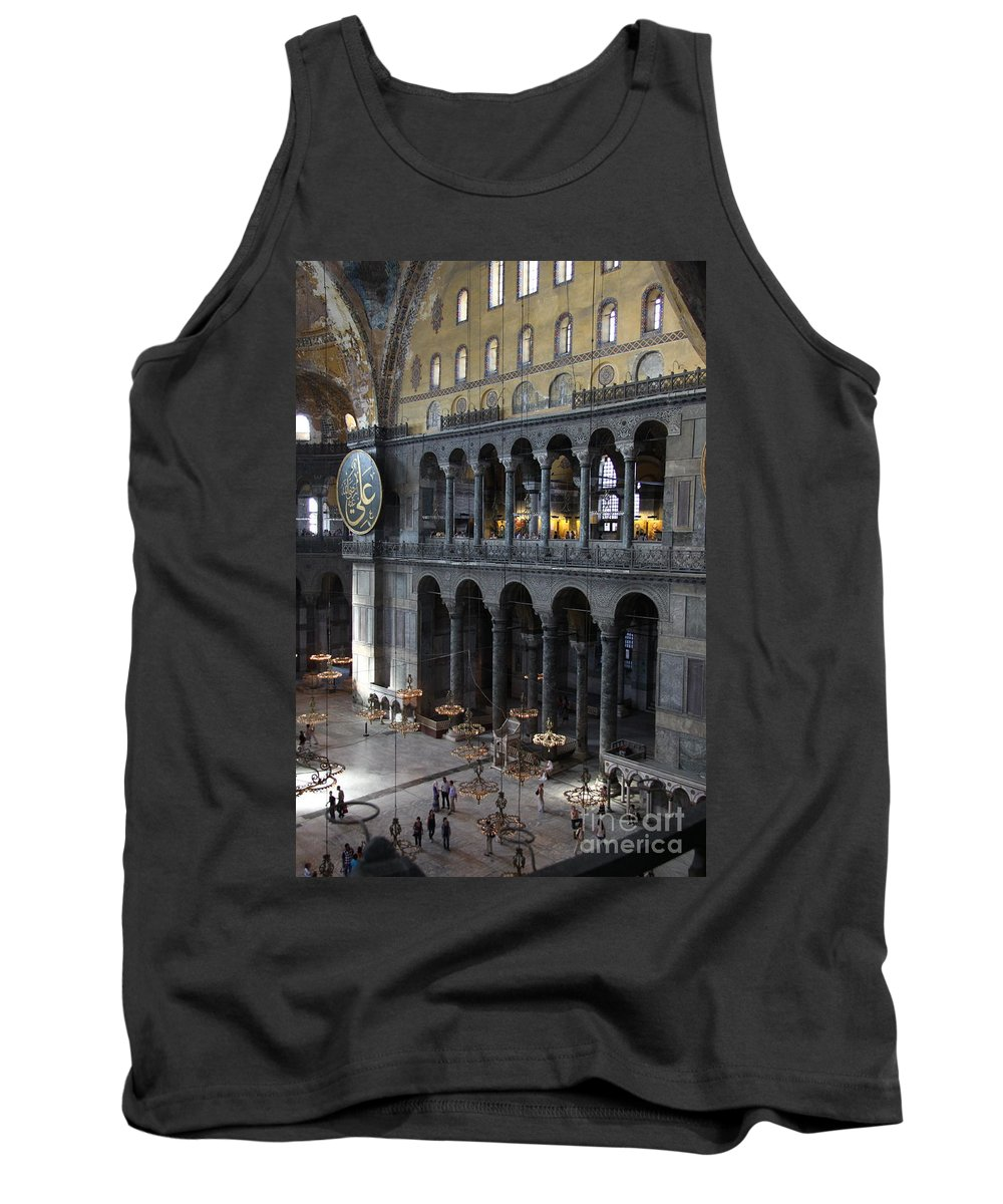 Hagia Sohia Tank Top featuring the photograph Hagia Sophia Interiour I by Christiane Schulze Art And Photography