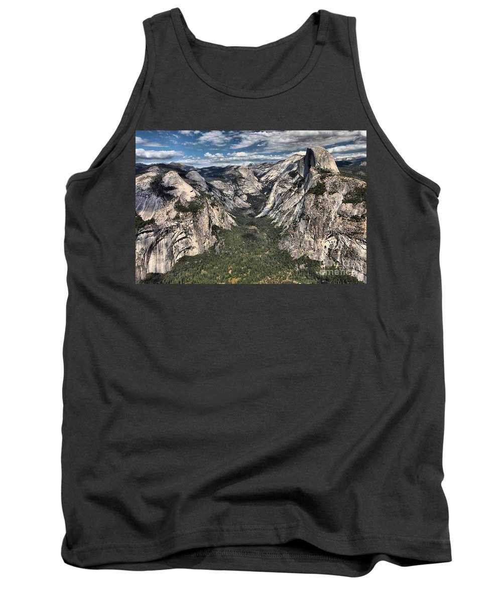 Half Dome Tank Top featuring the photograph Half Dome Valley by Adam Jewell