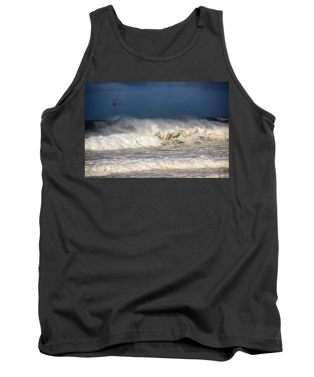 Kite Surfer Tank Top featuring the photograph Hanging in there by Sheila Smart Fine Art Photography