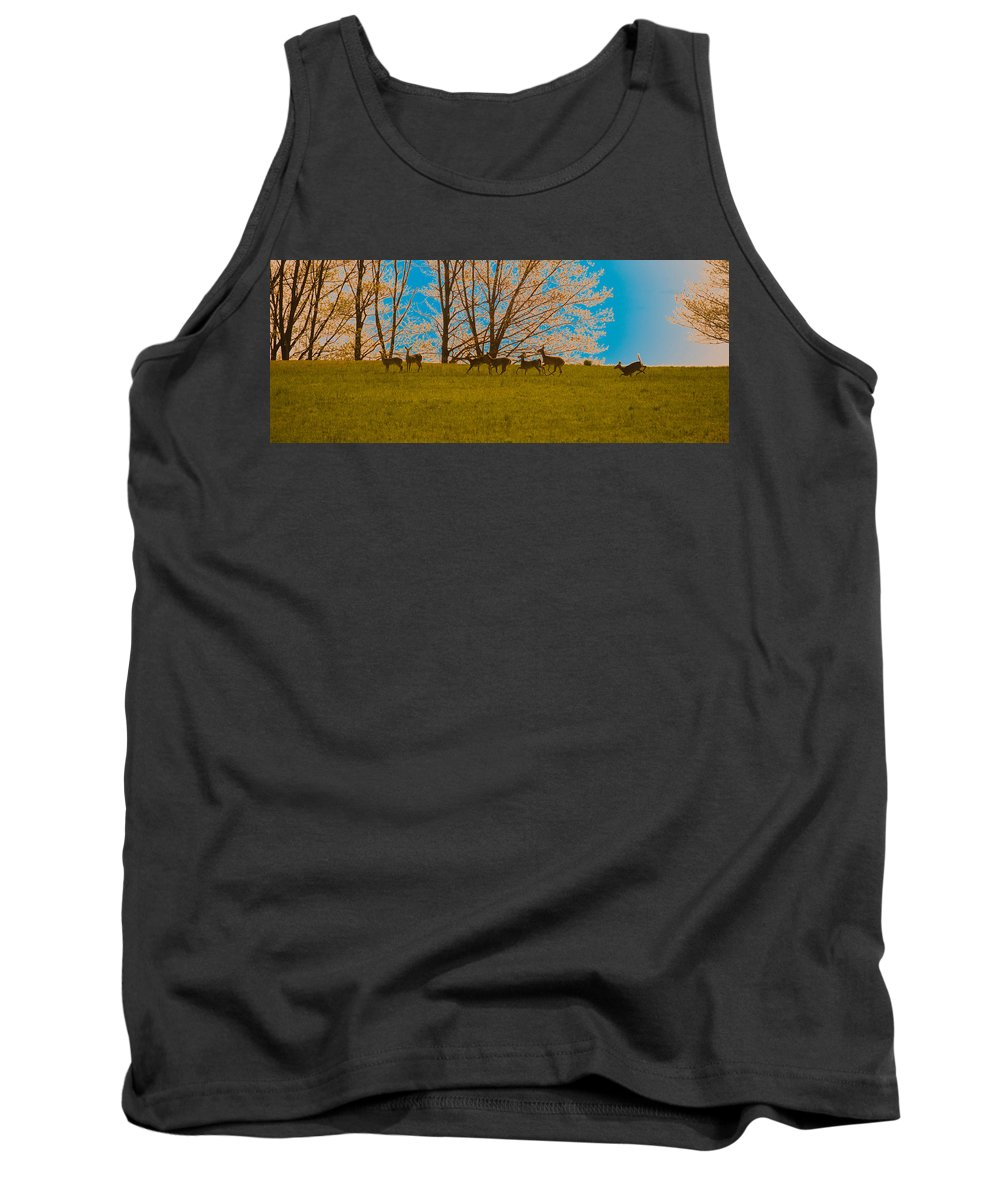 Deer Tank Top featuring the photograph Has Anyone Seen Rudolph by Trish Tritz