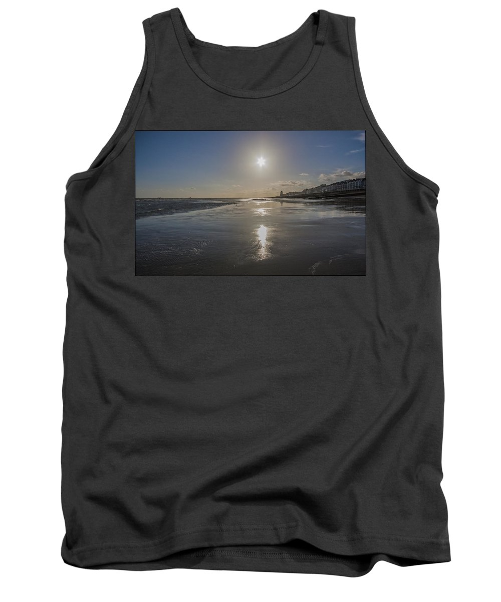 Beach Tank Top featuring the photograph Hastings Sunset by Dawn OConnor