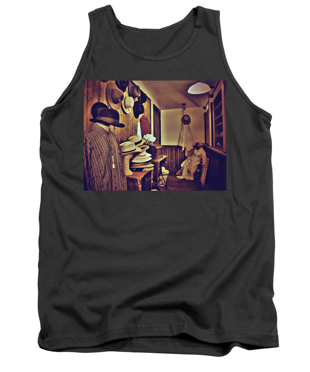 Photographs Framed Prints Tank Top featuring the photograph Hat Room by The Artist Project