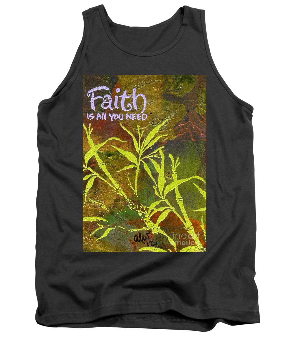 Acrylic Tank Top featuring the painting Having Faith by Angela L Walker