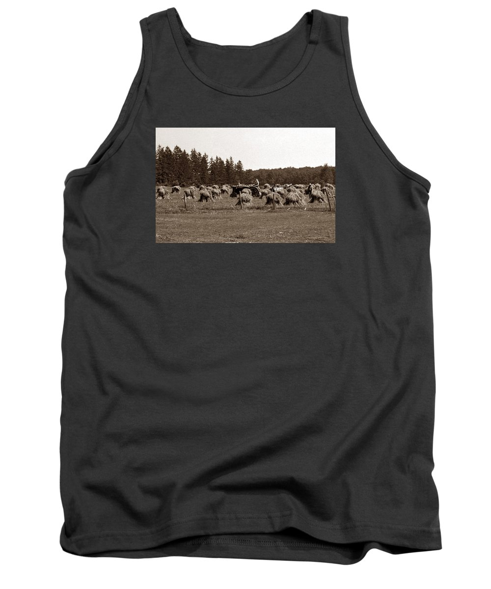 Md Tank Top featuring the photograph Hay Maker by Skip Willits
