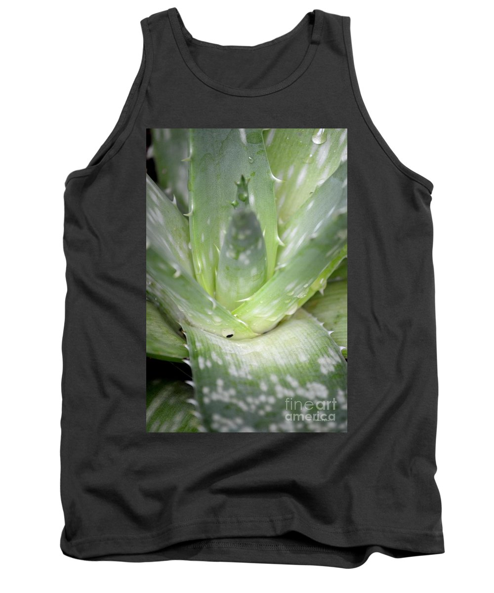 Heart Tank Top featuring the photograph Heart Of An Aloe by Maria Urso