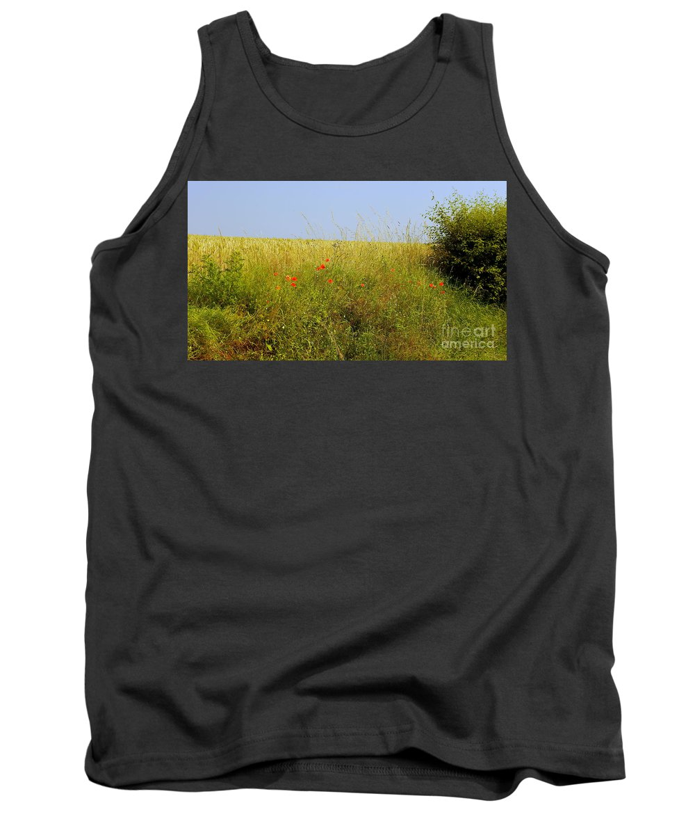 Hedgerow Tank Top featuring the photograph Hedgerow Flowers by John Chatterley
