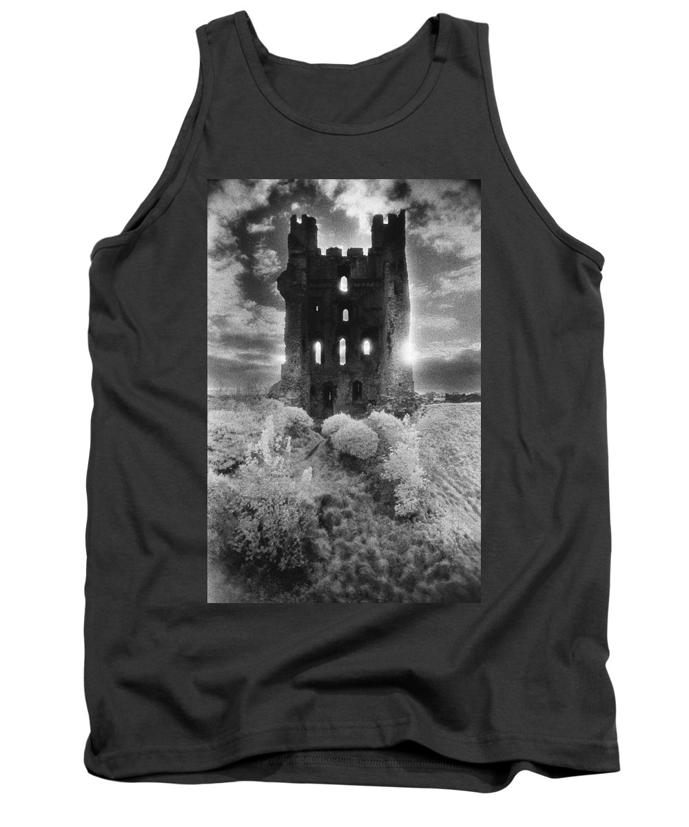 Medieval; Glowing; Sunlight Tank Top featuring the photograph Helmsley Castle by Simon Marsden