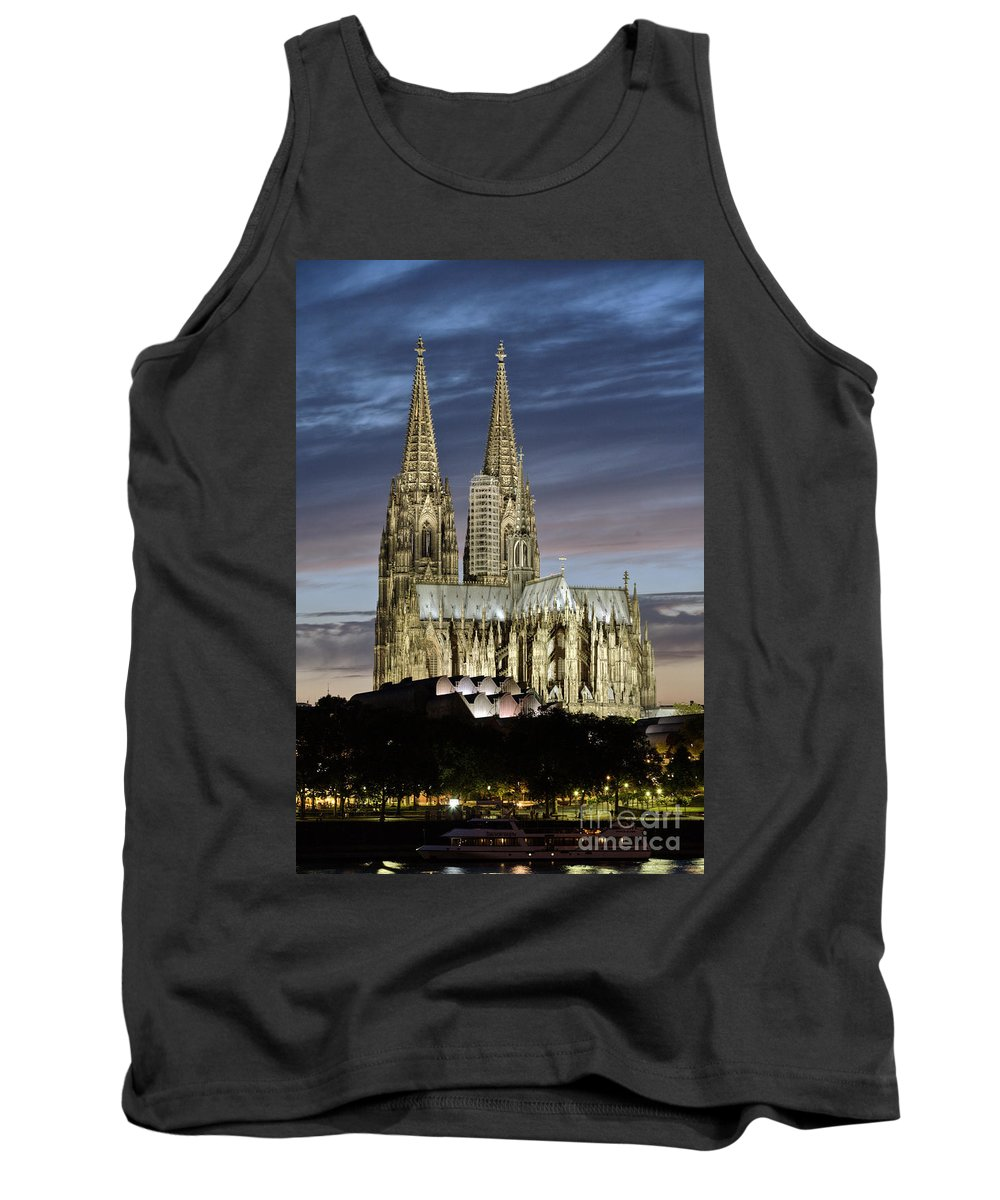 Cologne Cathedral Tank Top featuring the photograph High Cathedral Of Sts. Peter And Mary In Cologne by Heiko Koehrer-Wagner