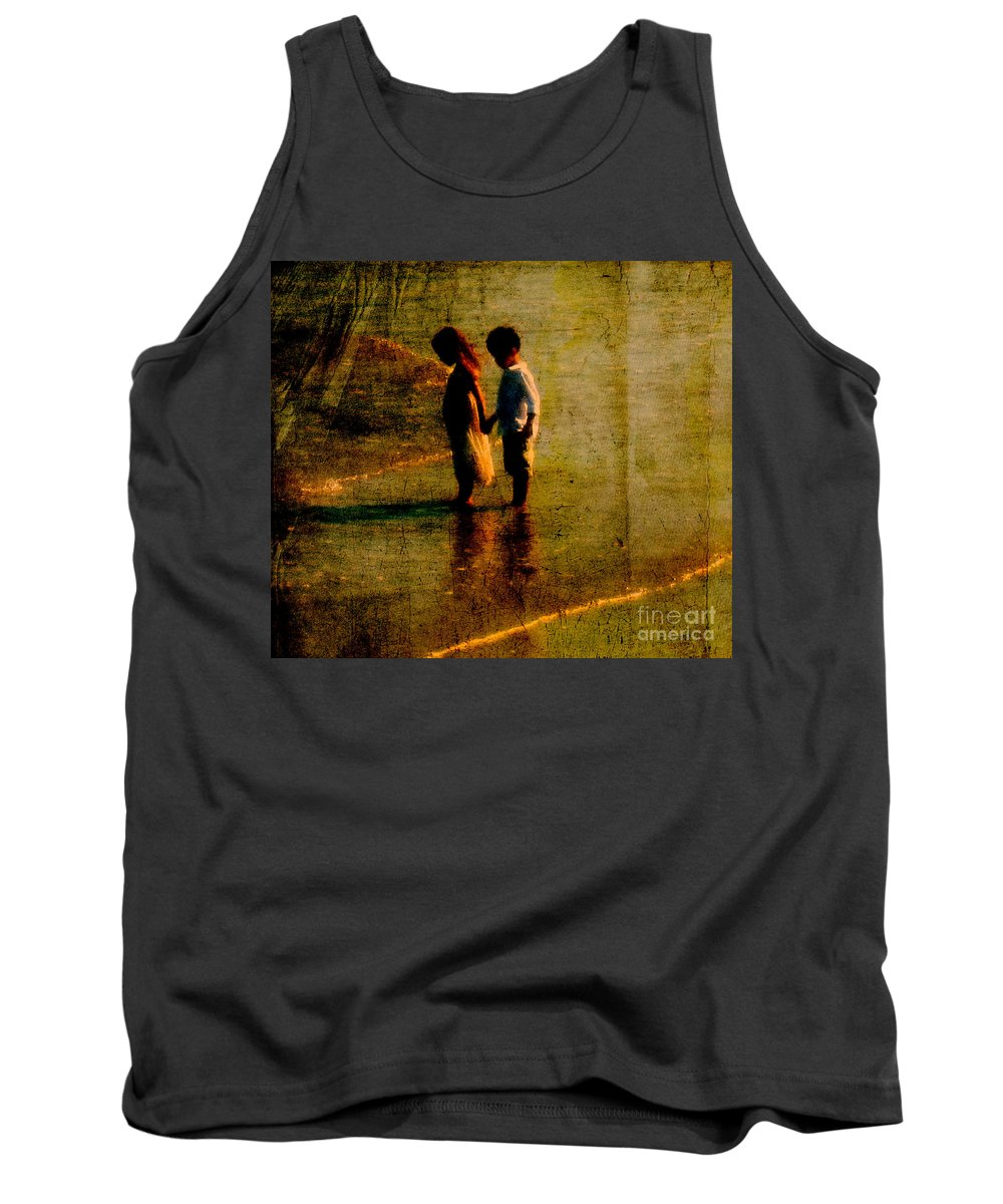 Kids Tank Top featuring the photograph His Kindergarten Sweetheart by Susanne Van Hulst