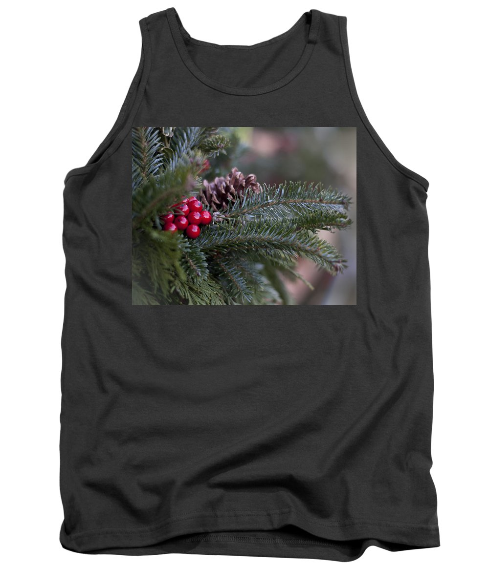 Winter Tank Top featuring the photograph Holiday Season by Ivelina G