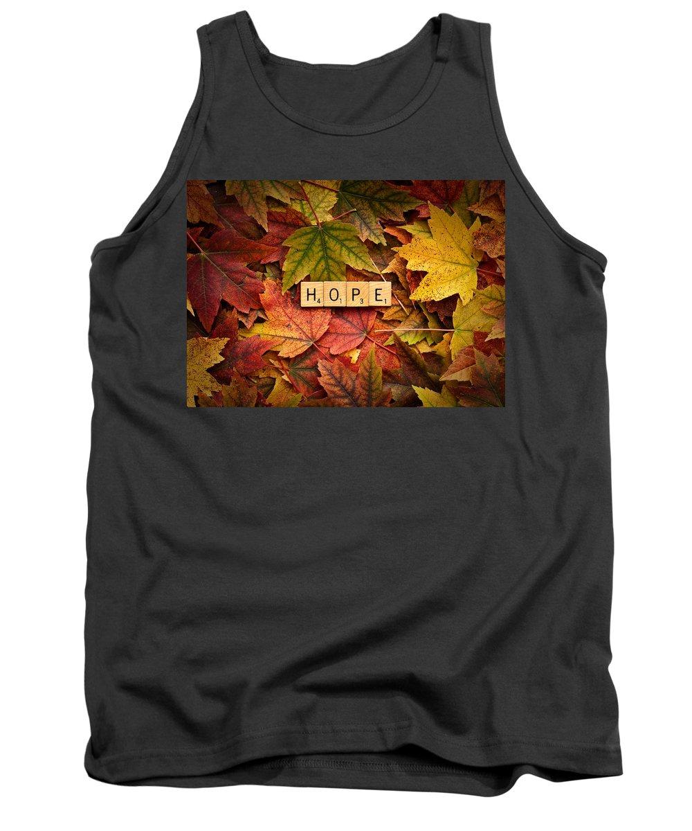 Daniel J. Kmiecik Tank Top featuring the photograph Hope-autumn by Onyonet Photo Studios