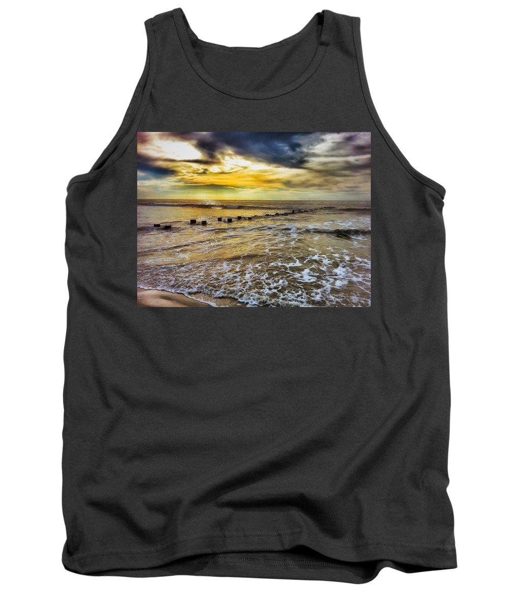Ocean Tank Top featuring the photograph Horizons Edge by Scott Wyatt