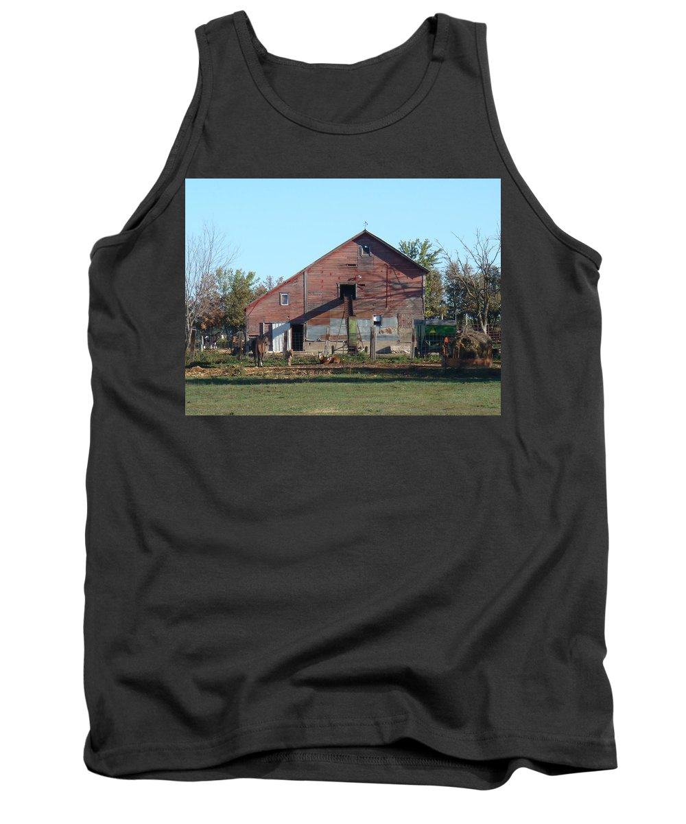 Horse Tank Top featuring the photograph Horse Barn by Bonfire Photography