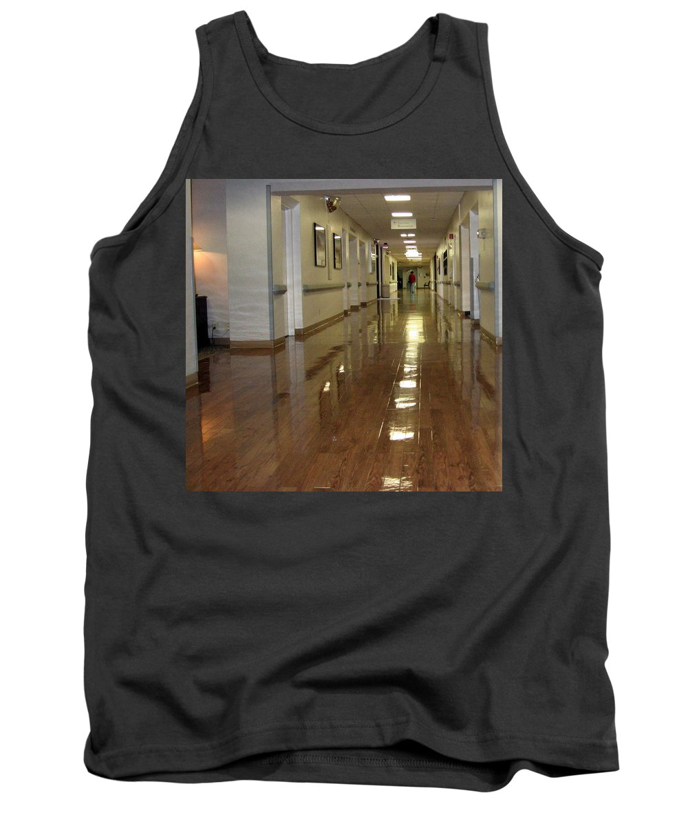 Hallway Tank Top featuring the photograph Hospital Hallway by Amy Hosp