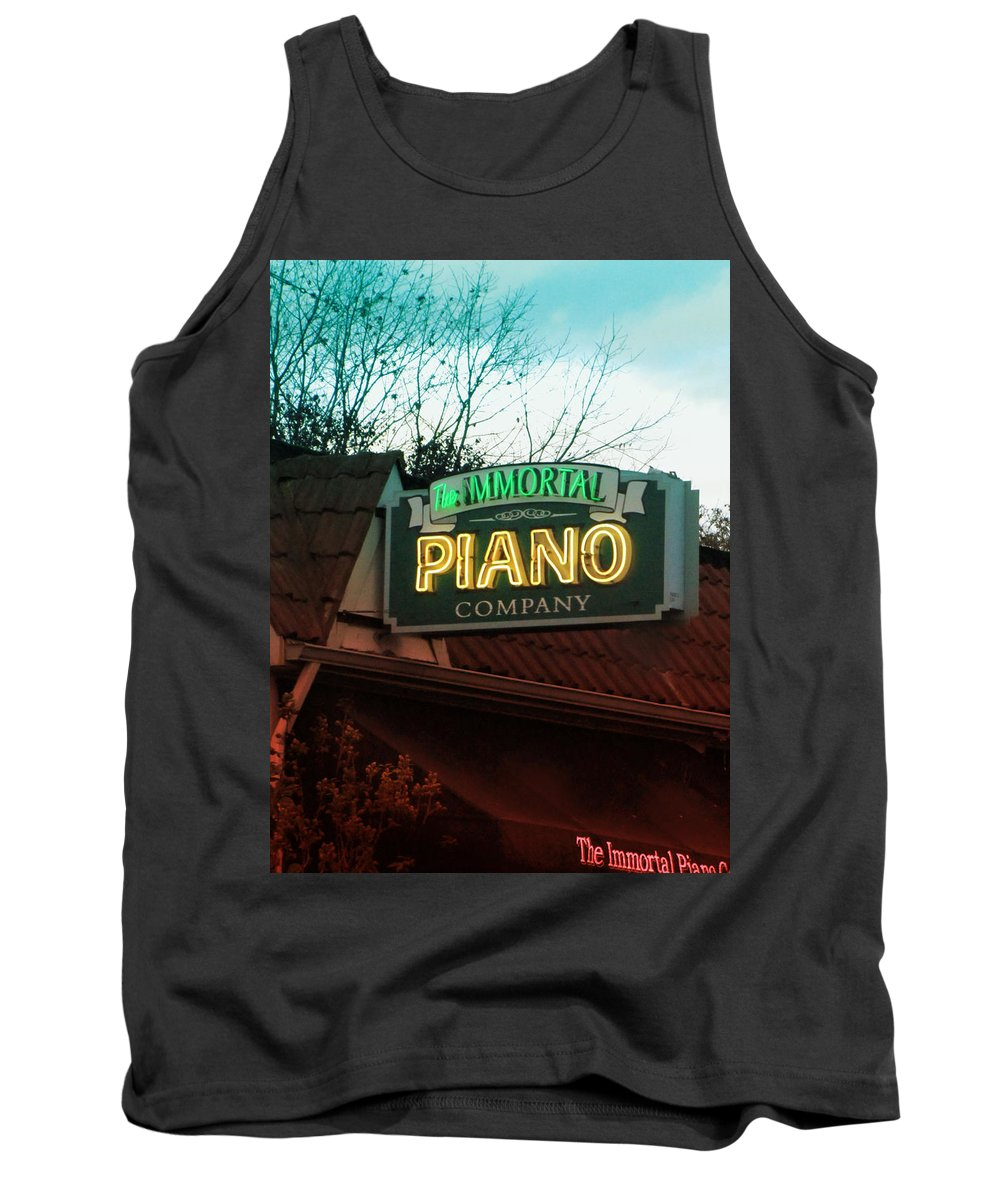 Signs Tank Top featuring the photograph Immortal Piano Co by Kathleen Grace