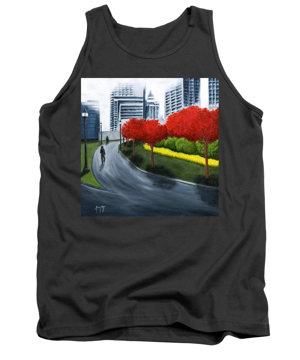 Art Tank Top featuring the painting In The City 2 by Mauro Celotti