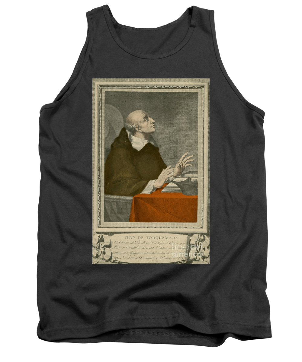 Historic Tank Top featuring the photograph Juan De Torquemada by Photo Researchers