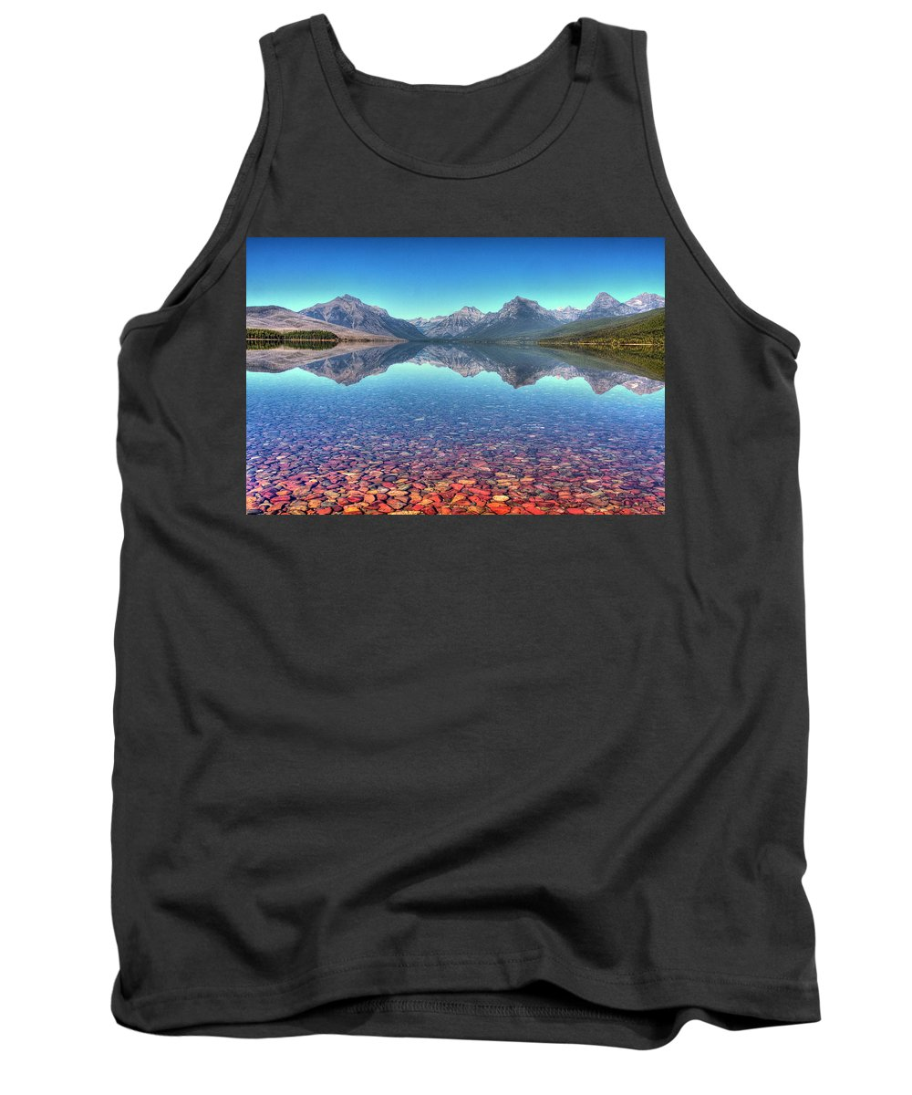 Landscape Tank Top featuring the photograph Lake Mcdonald by Rick Ulmer
