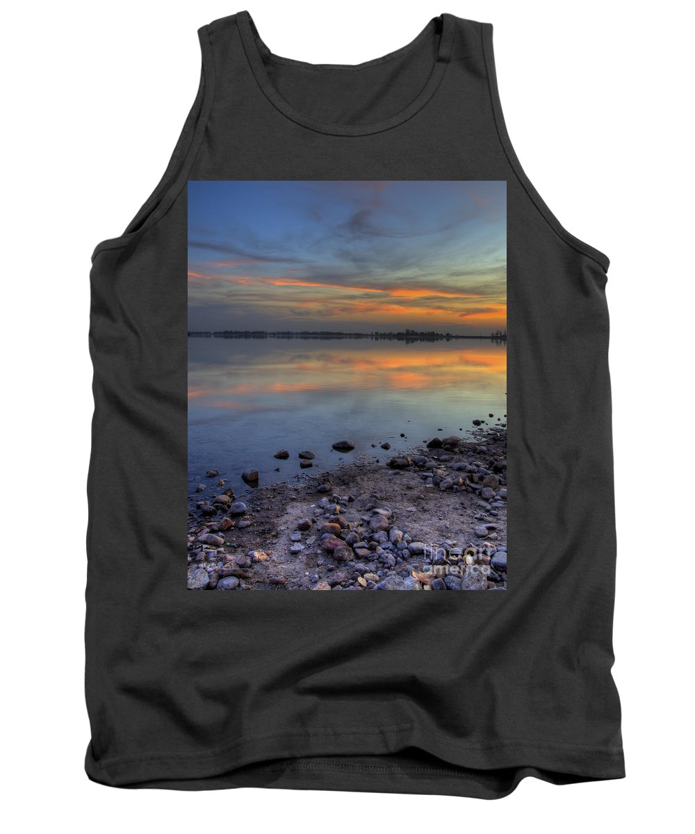 Lake Tank Top featuring the photograph Lake Sunset by Jim And Emily Bush